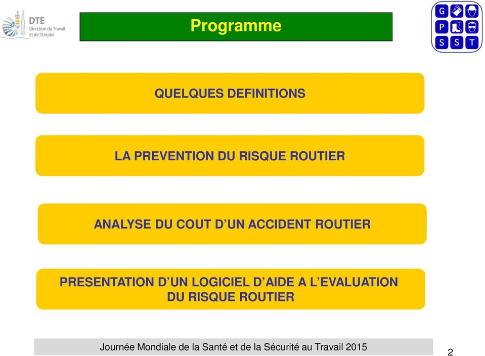 COUT D UN ACCIDENT ROUTIER PRESENTATION D