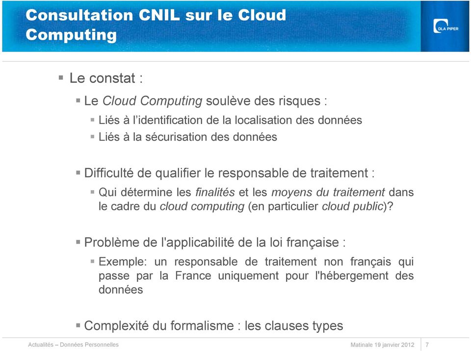 cloud computing (en particulier cloud public)?