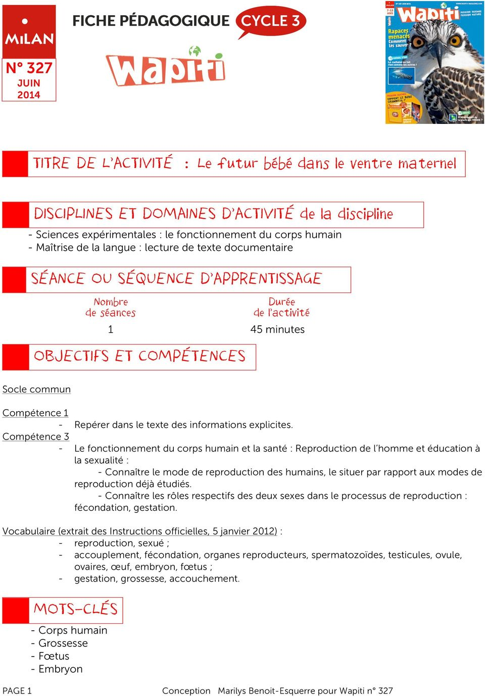 des informations explicites.