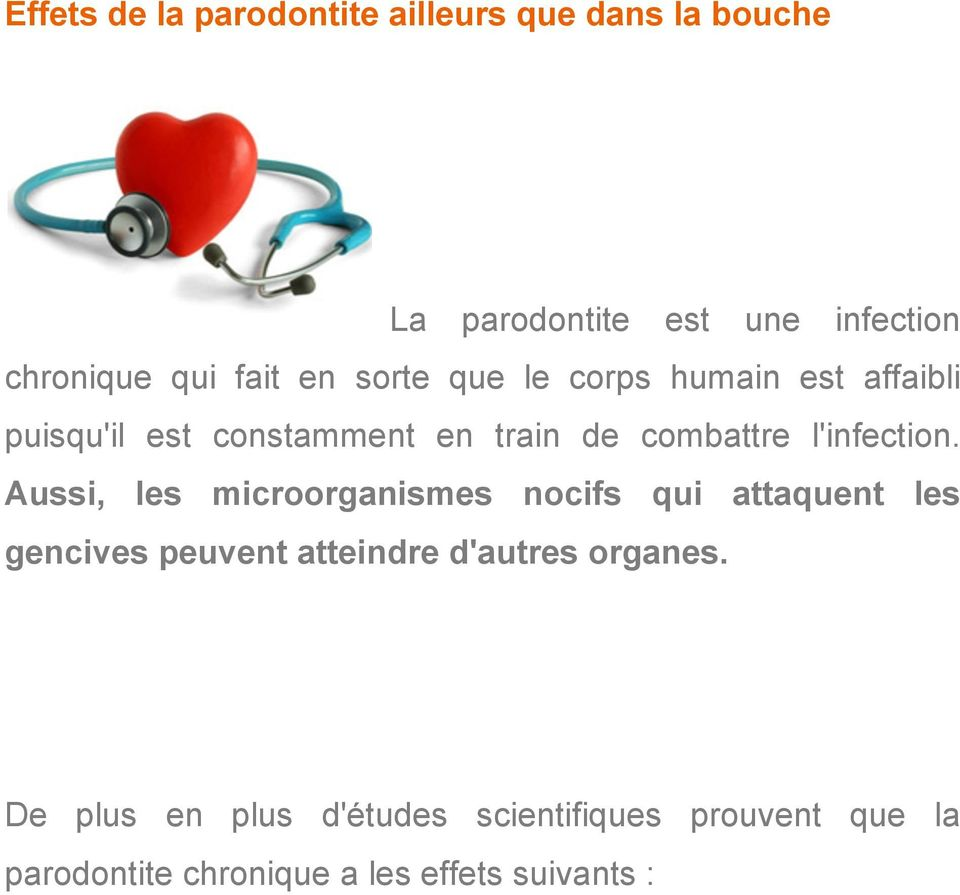 l'infection.