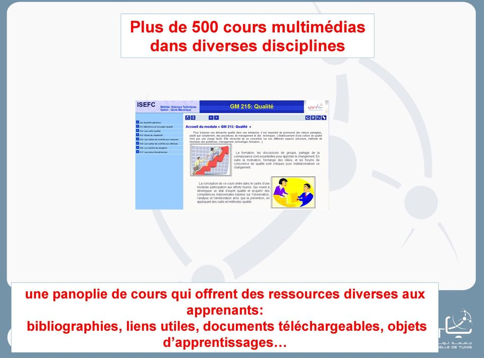 ressources diverses aux apprenants: bibliographies,