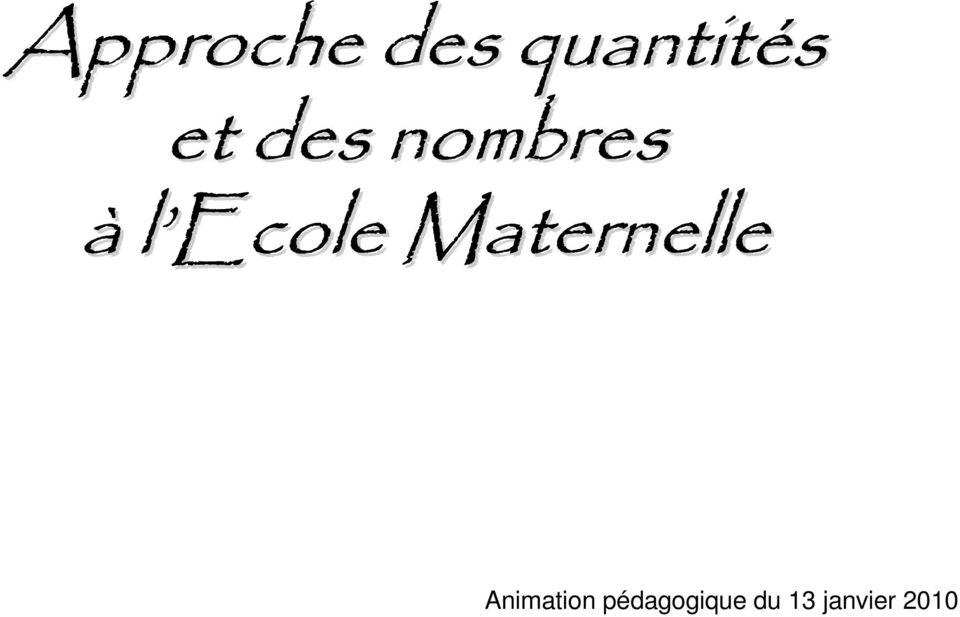 Maternelle Animation