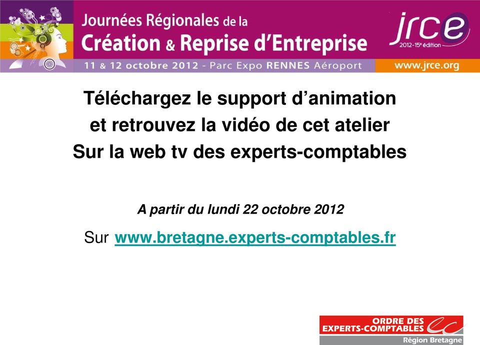 tv des experts-comptables A partir du lundi