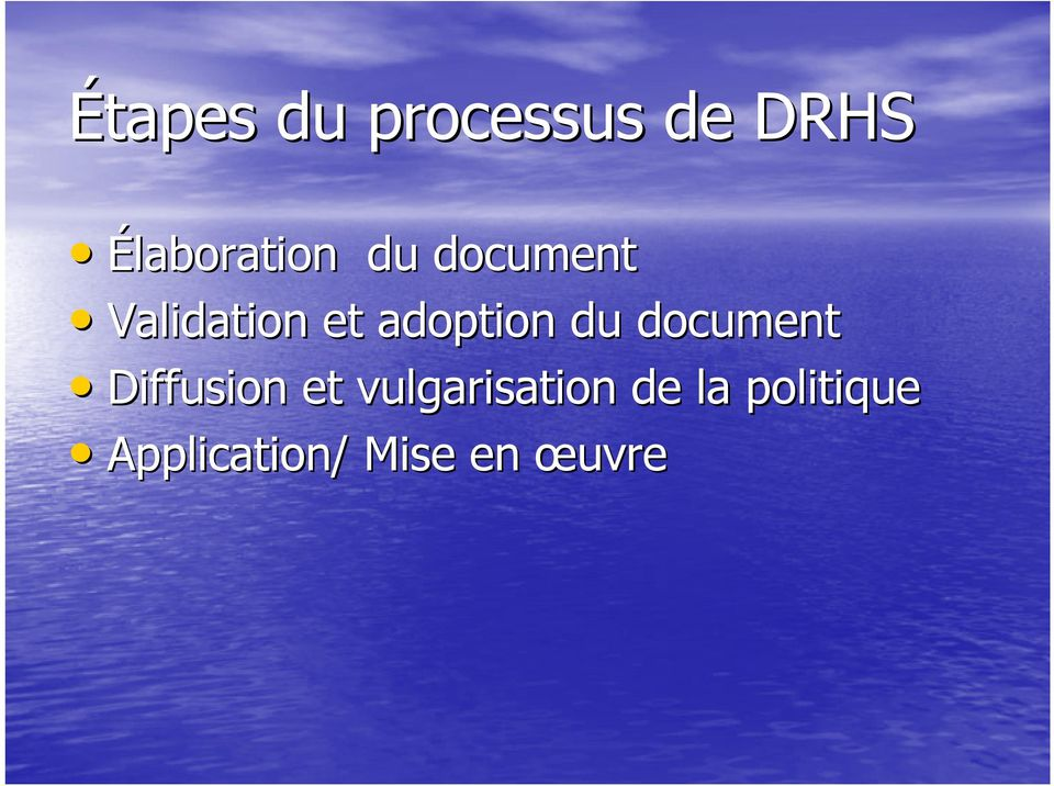 adoption du document Diffusion et