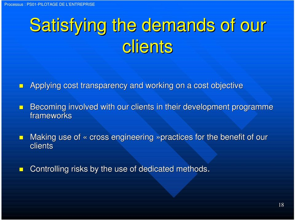 clients in their development programme frameworks Making use of «cross