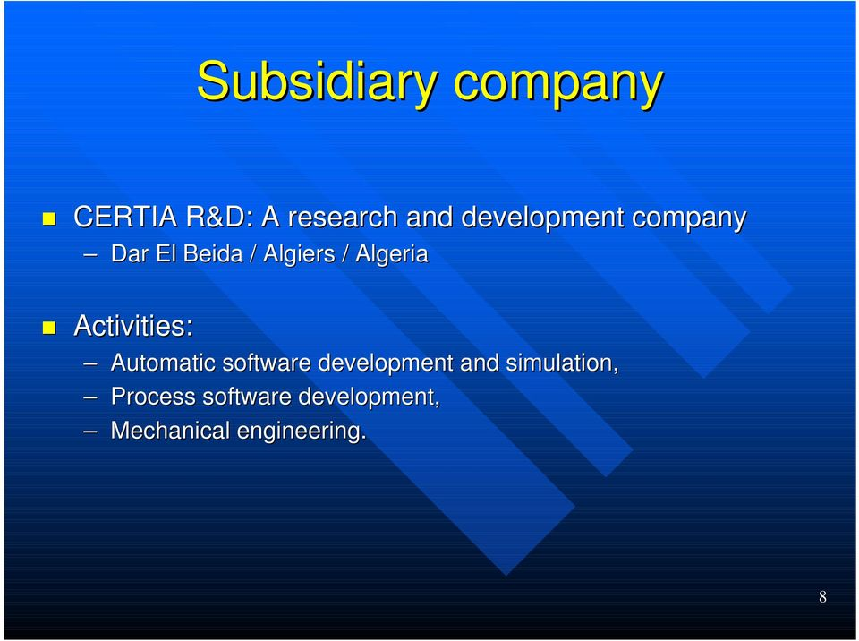 Activities: Automatic software development and