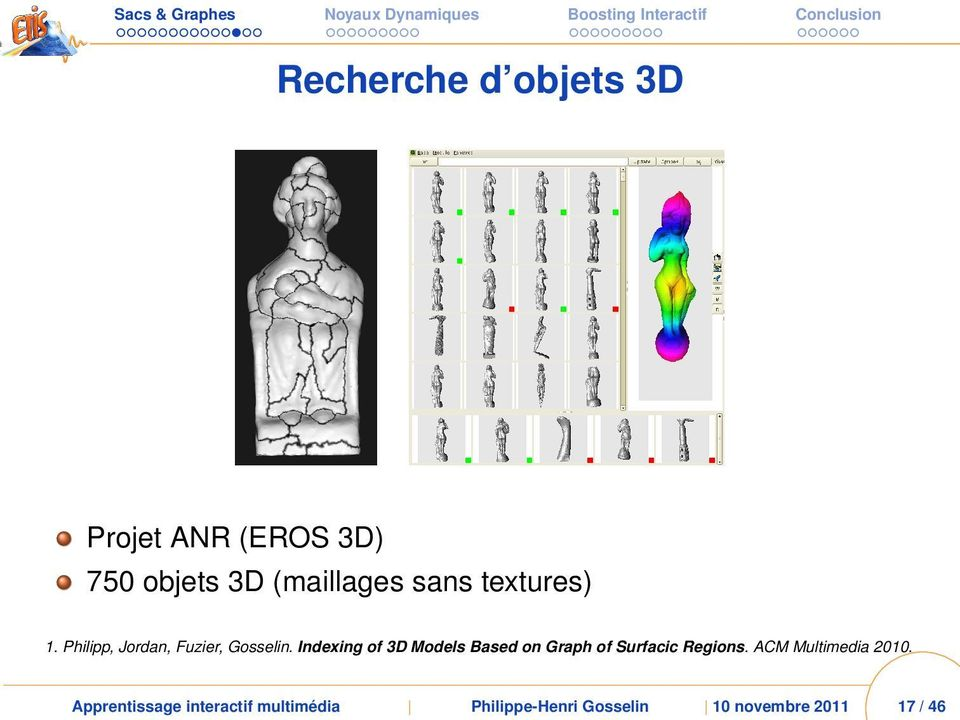 Indexing of 3D Models Based on Graph of Surfacic Regions.