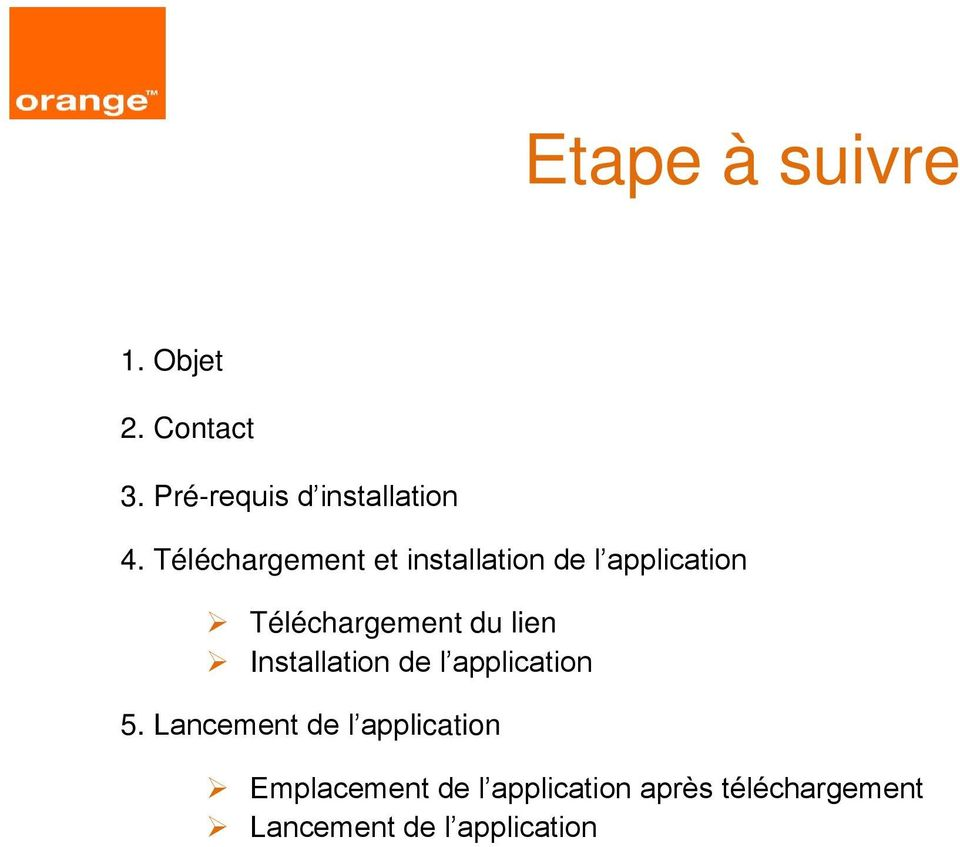 lien Installation de l application 5.