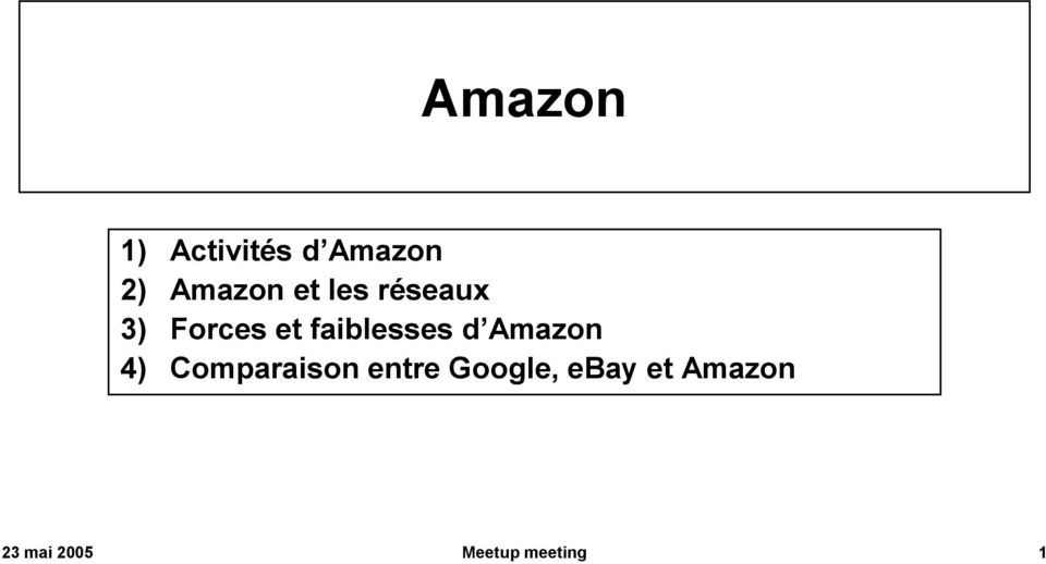 d Amazon 4) Comparaison entre Google,
