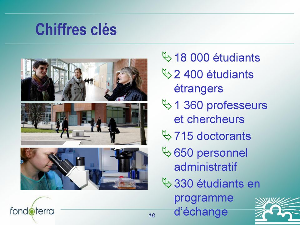 chercheurs 715 doctorants 650 personnel