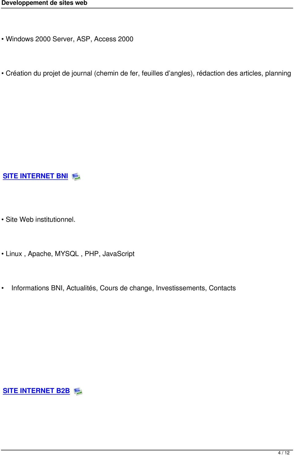 Site Web institutionnel.