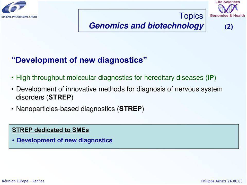 innovative methods for diagnosis of nervous system disorders (STREP)