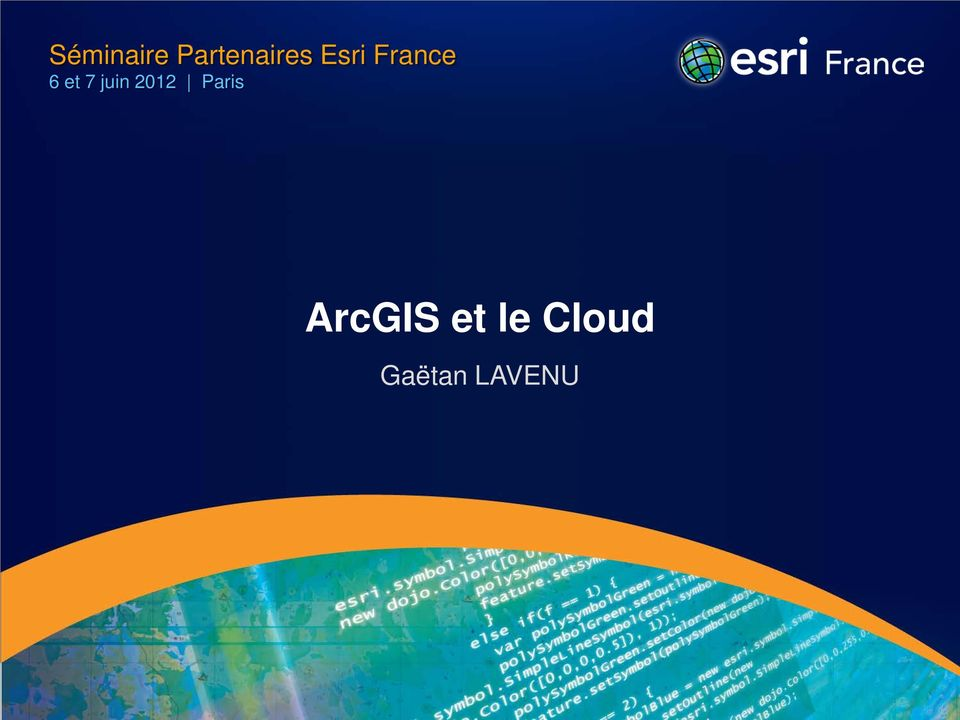 juin 2012 Paris ArcGIS