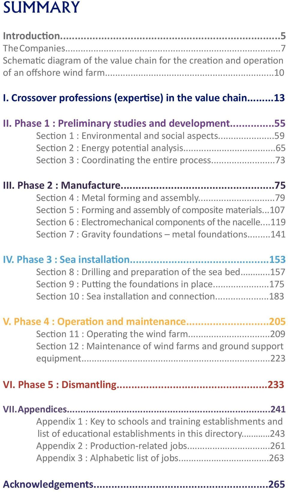 ..73 III. Phase 2 : Manufacture...75 Section 4 : Metal forming and assembly...79 Section 5 : Forming and assembly of composite materials...107 Section 6 : Electromechanical components of the nacelle.