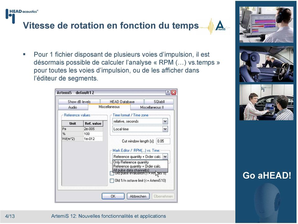 possible de calculer l analyse «RPM ( ) vs.