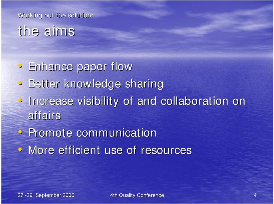 collaboration on affairs Promote communication More