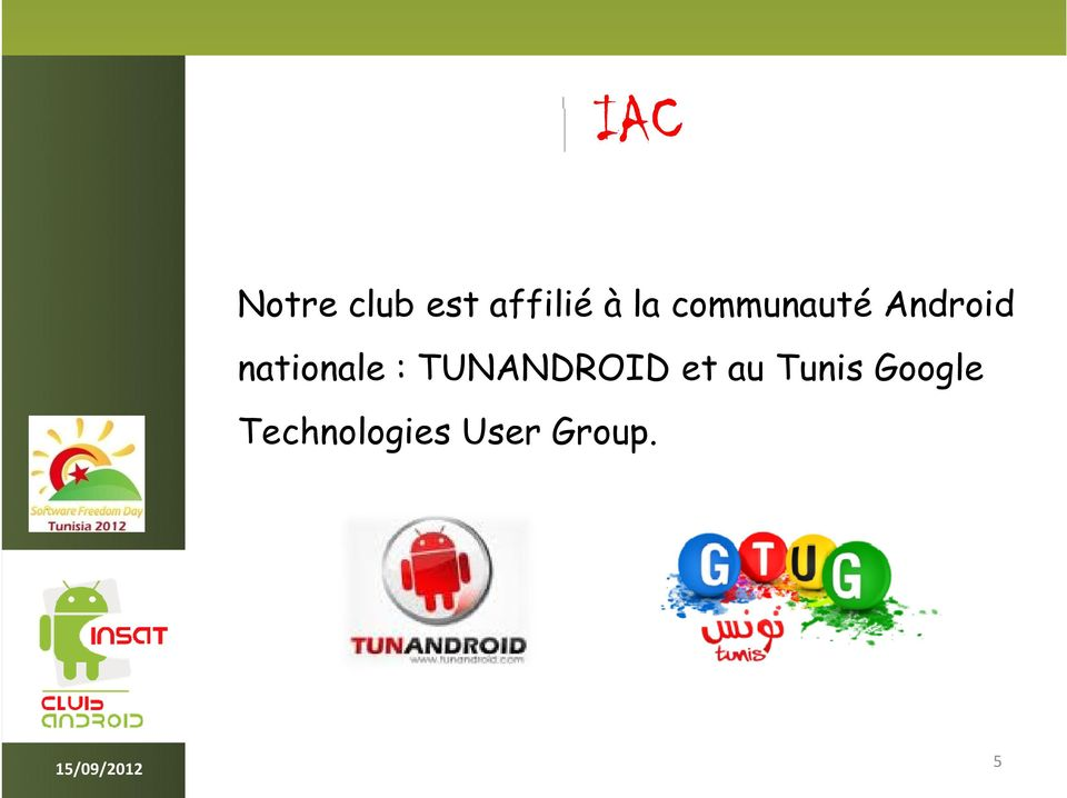 nationale : TUNANDROID et au