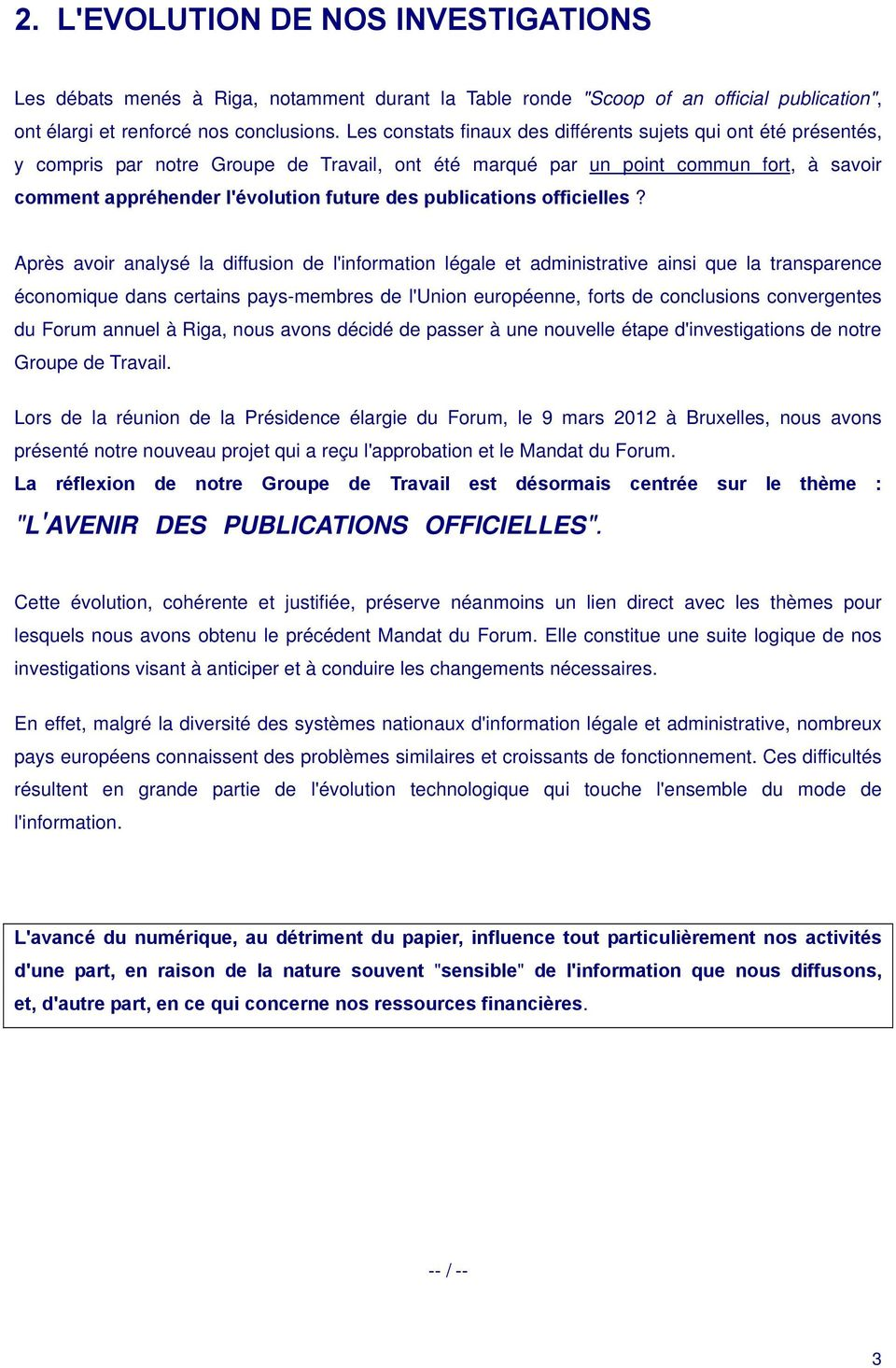 publications officielles?
