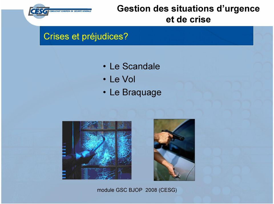 situations d urgence
