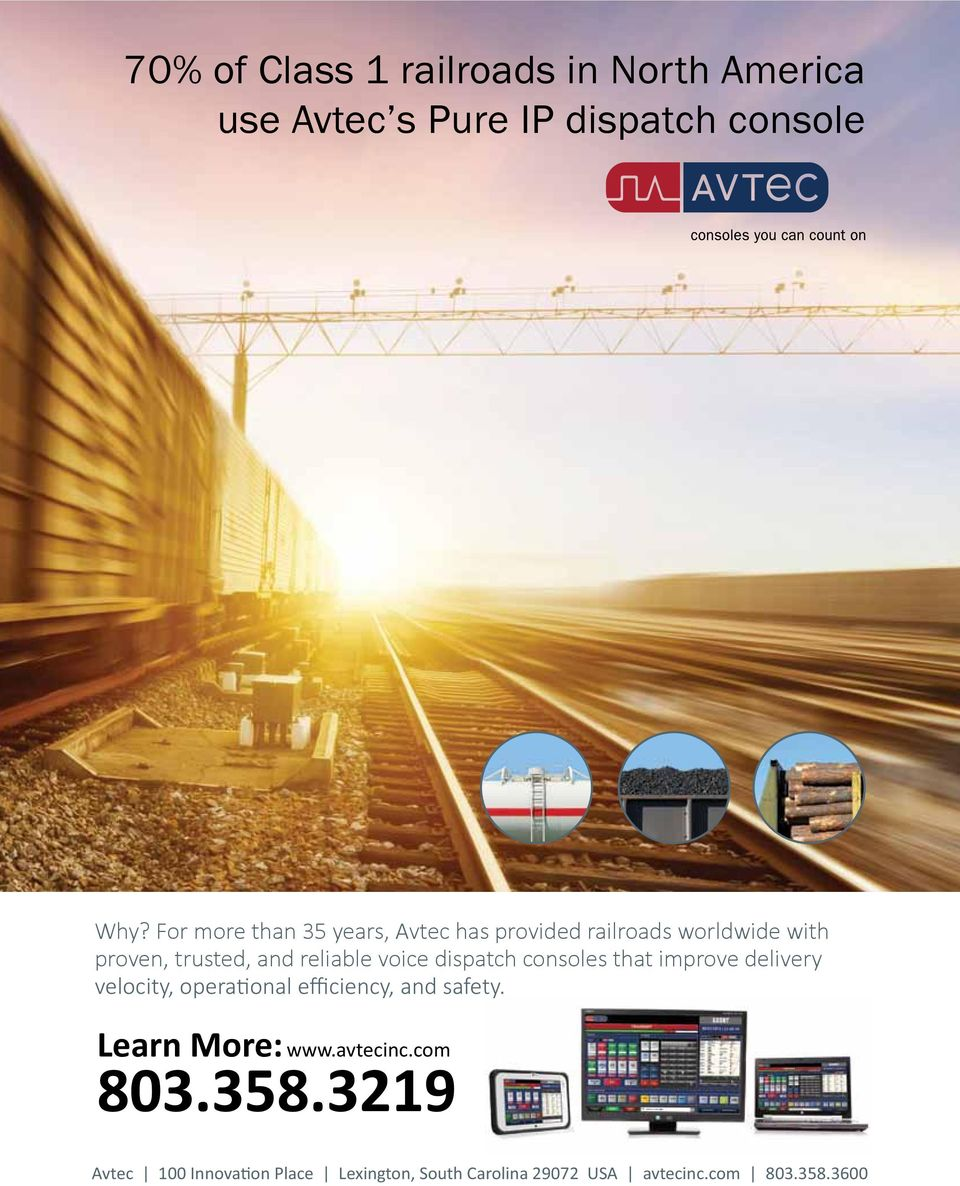 For more than 35 years, Avtec has provided railroads worldwide with