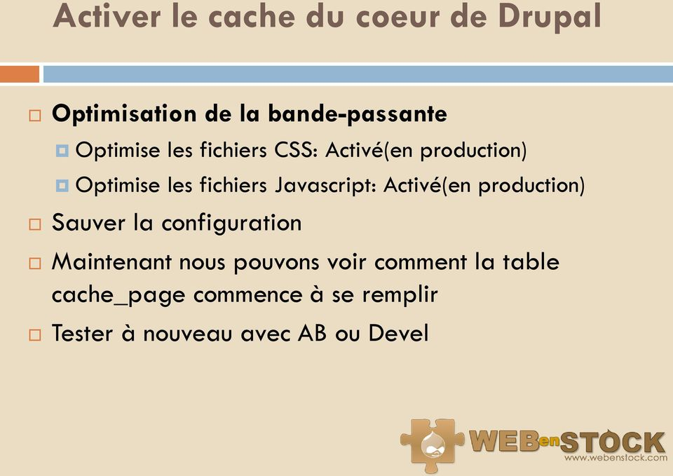 Javascript: Activé(en production) Sauver la configuration Maintenant nous