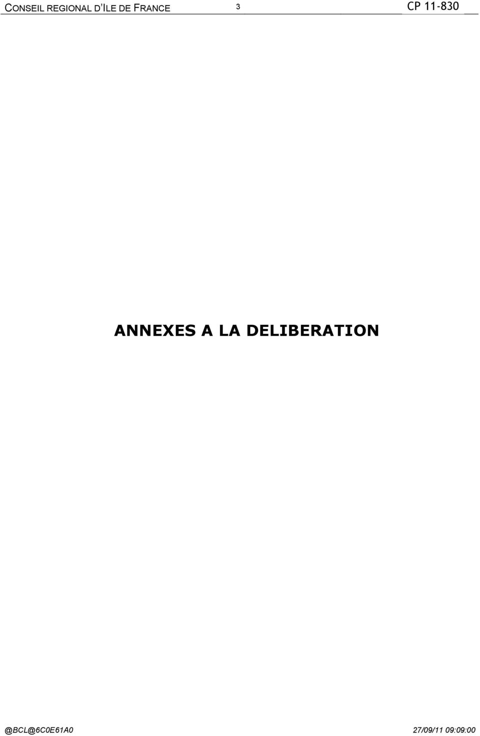 ANNEXES A LA DELIBERATION