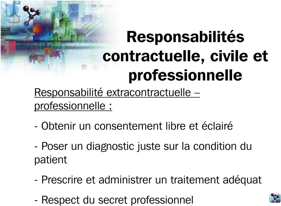 diagnostic juste sur la condition du patient - Prescrire
