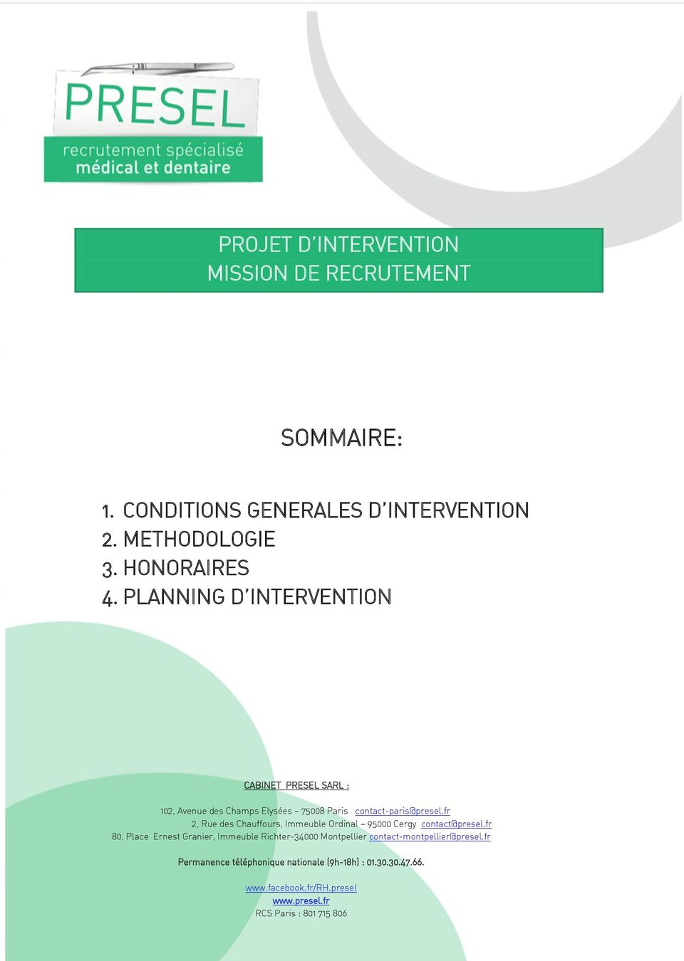 CONDITIONS GENERALES D INTERVENTION 2.
