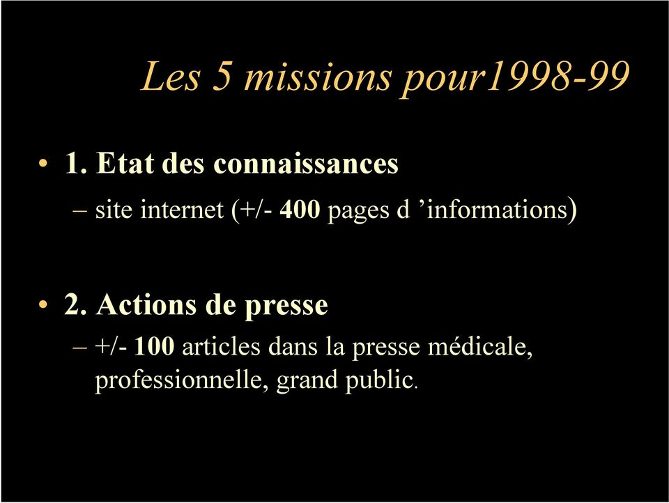 pages d informations) 2.