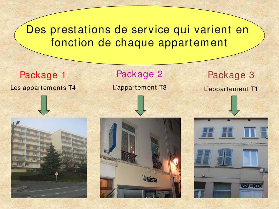 Package 1 Les appartements T4 Package