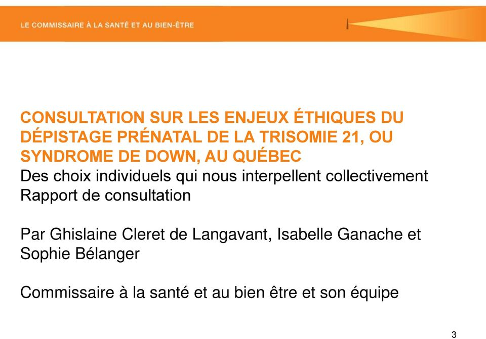 collectivement Rapport de consultation Par Ghislaine Cleret de Langavant,