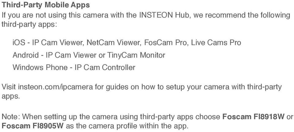 Cam Viewer or TinyCam Monitor Windows Phone - IP Cam Controller Visit insteon.