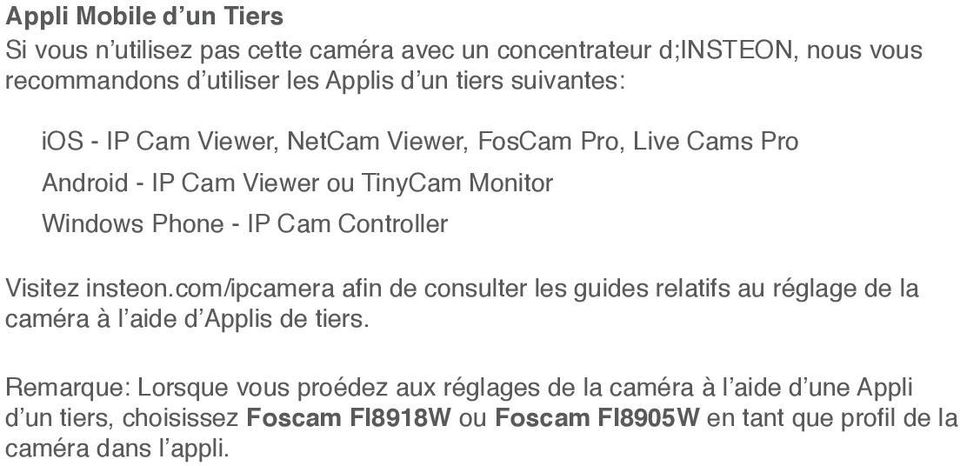 ou TinyCam Monitor Windows Phone - IP Cam