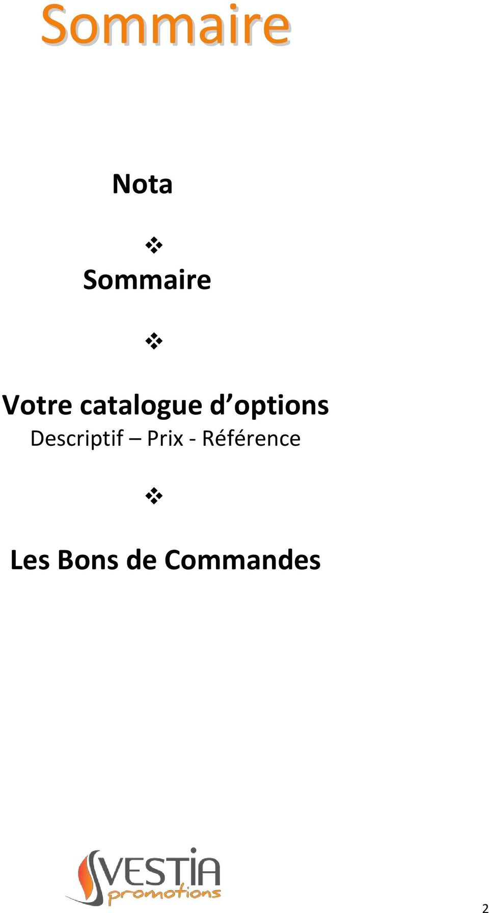 options Descriptif Prix