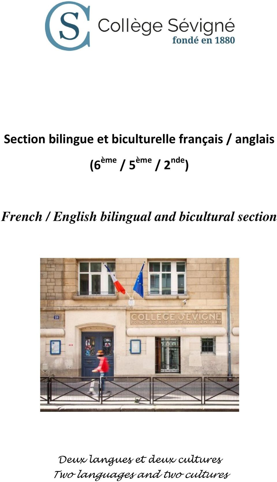 English bilingual and bicultural section Deux