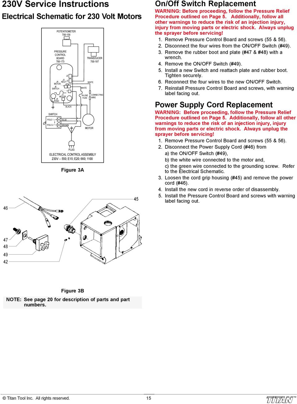 660xc Airless Sprayer Pdf Paint Wiring Diagram Proceeding Follow The Pressure Relief Procedure Outlined On Page 5 Additionally All
