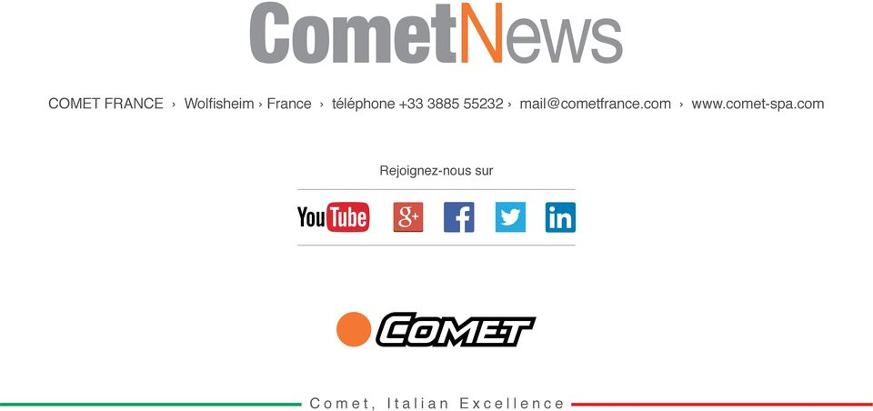 mail@cometfrance.com www.comet-spa.