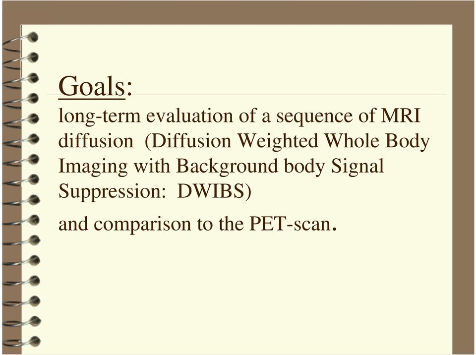 Imaging with Background body Signal