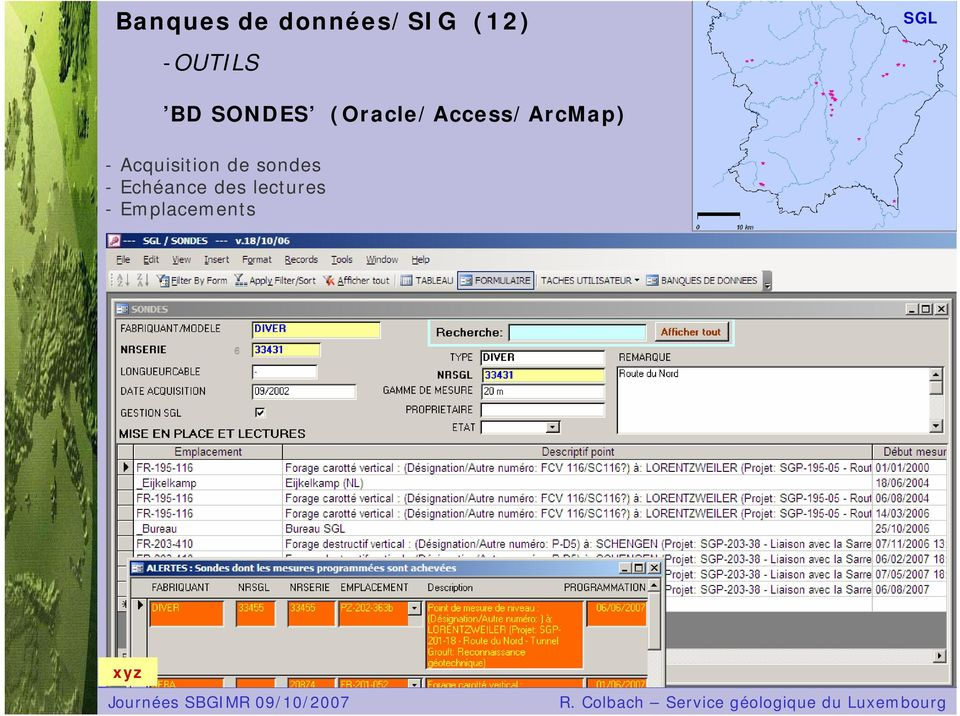 (Oracle/Access/ArcMap) -