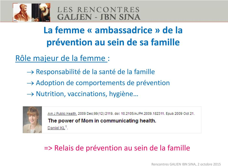 de la famille Adoption de comportements de prévention