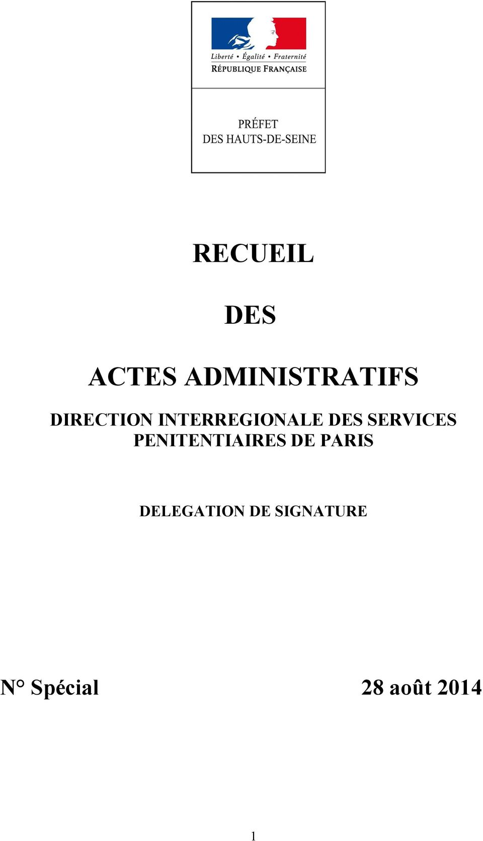 SERVICES PENITENTIAIRES DE PARIS