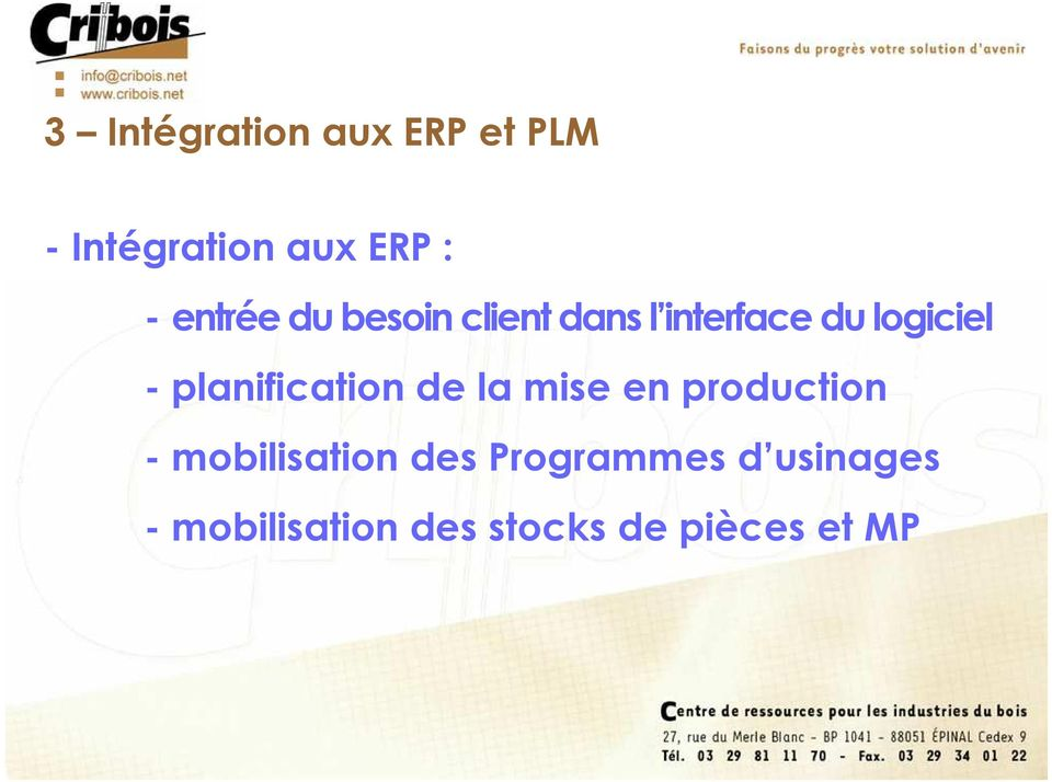 planification de la mise en production - mobilisation des