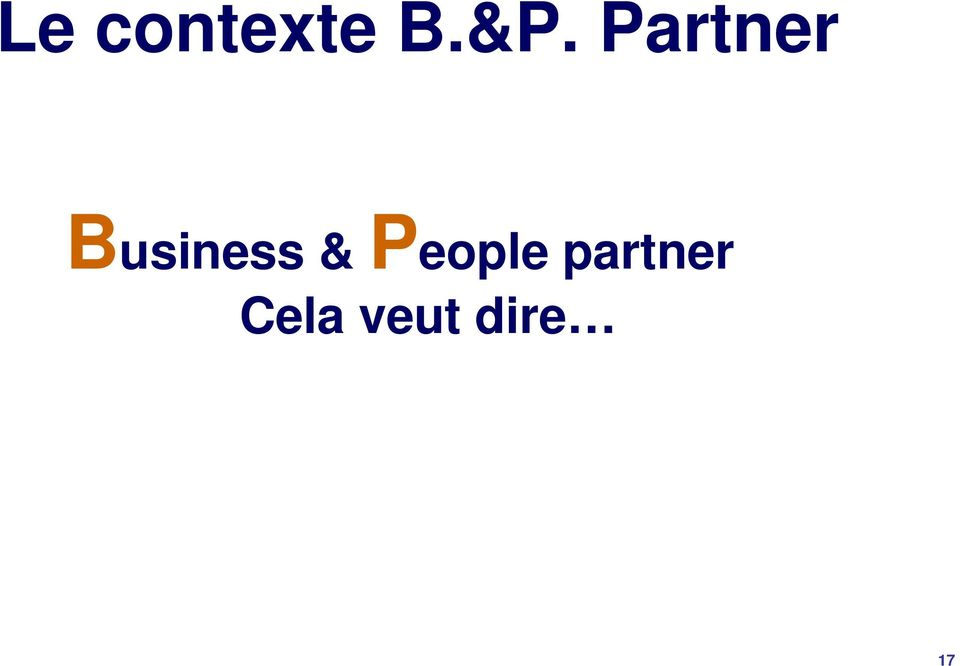 & People partner