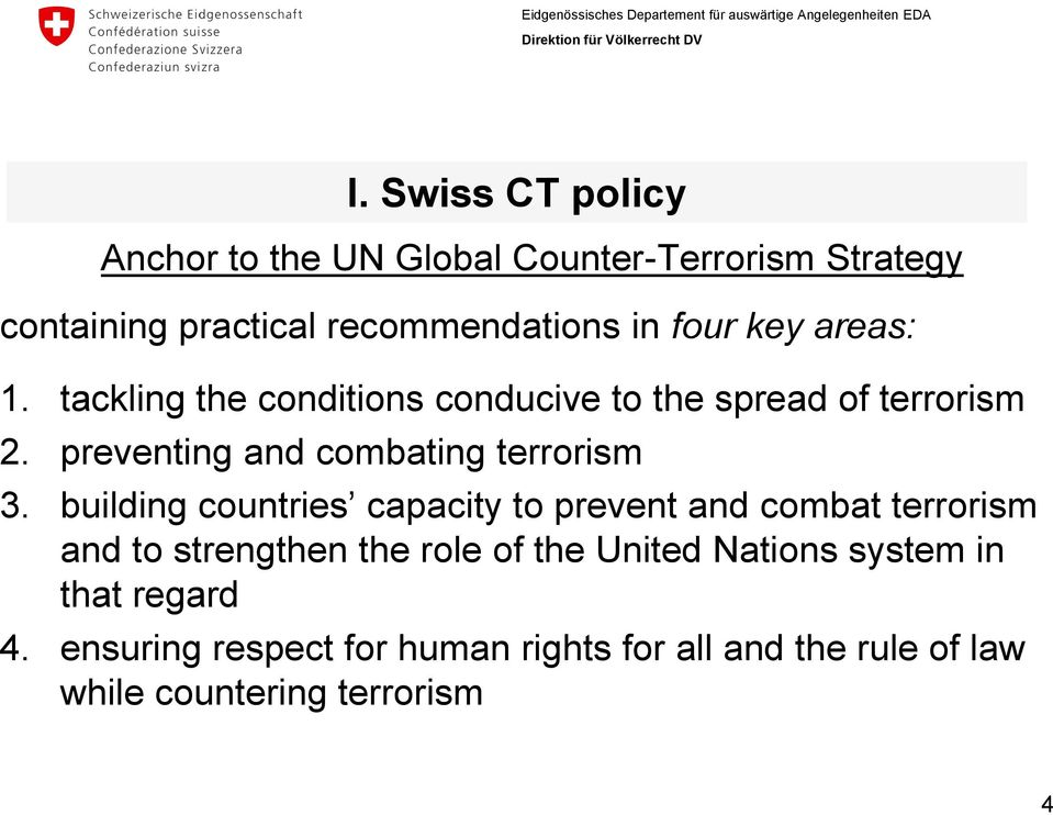 preventing and combating terrorism 3.