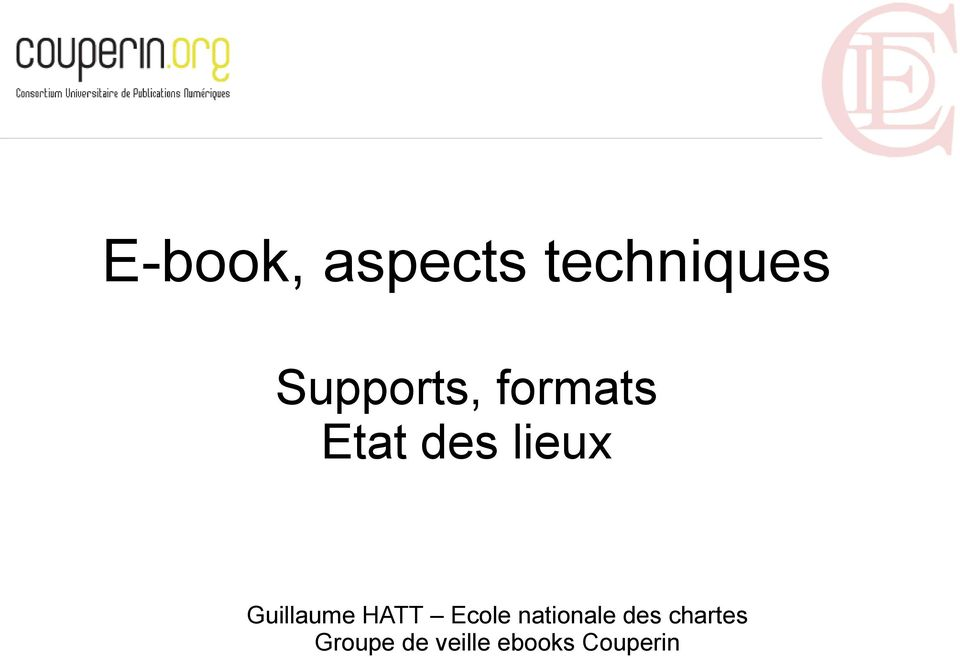 Guillaume HATT Ecole nationale