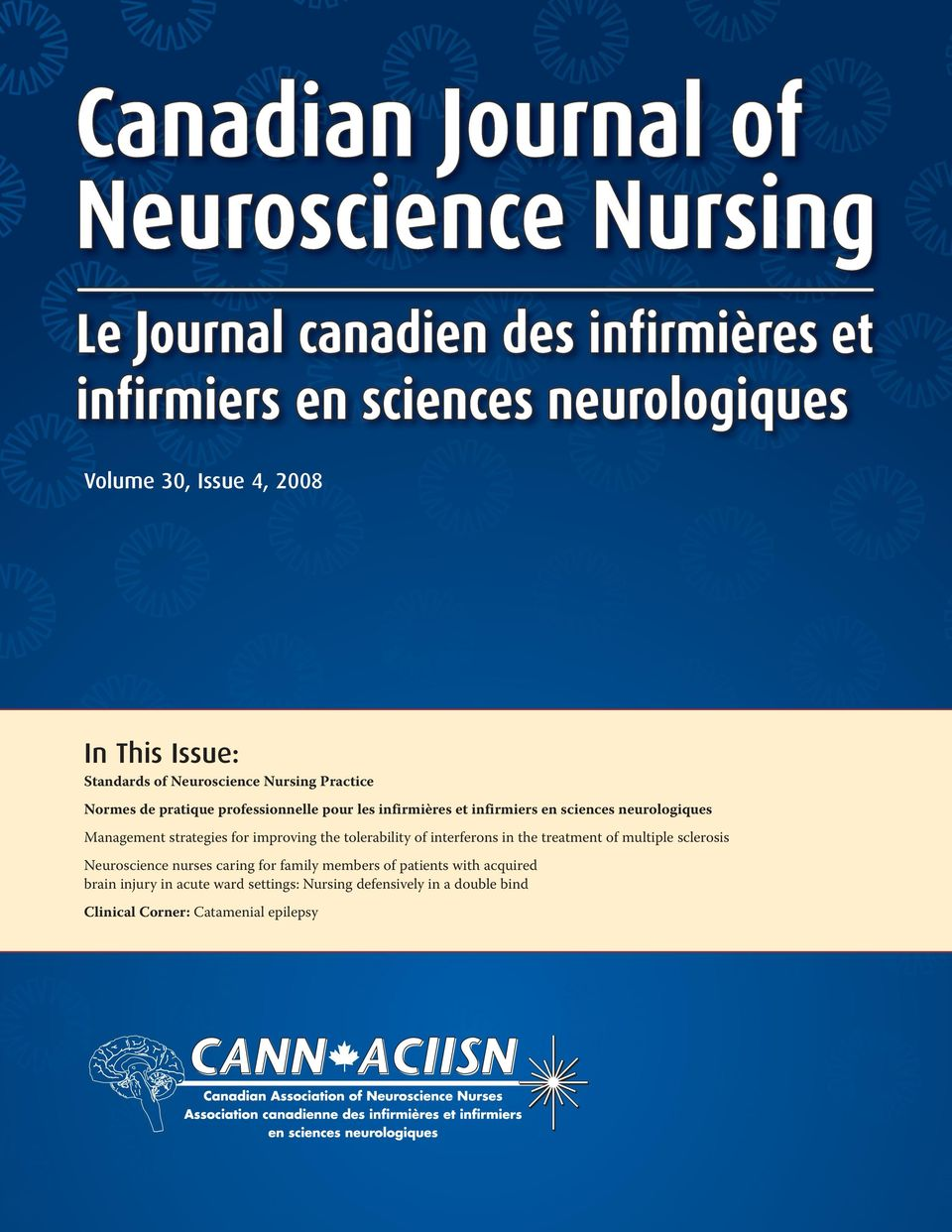 tolerability of interferons in the treatment of multiple sclerosis Neuroscience nurses caring for family members of