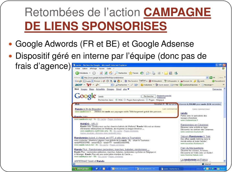 Google Adsense Dispositif géré en