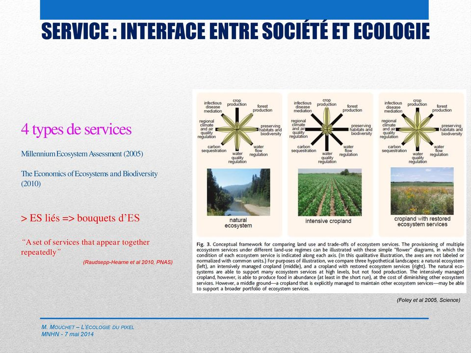 (2010) > ES liés => bouquets d ES A set of services that appear together
