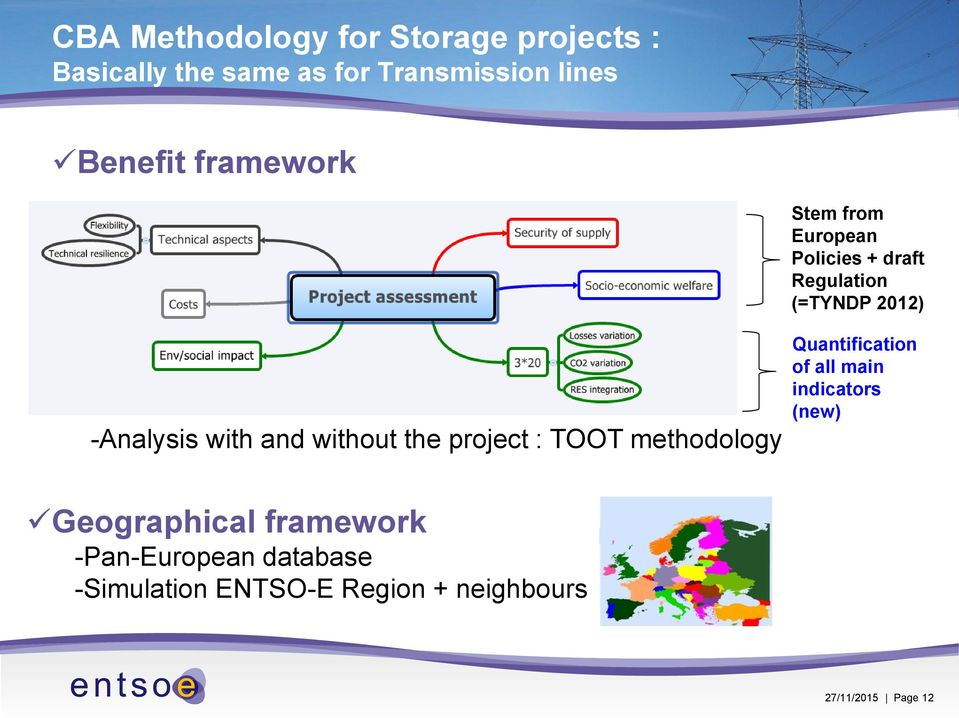 without the project : TOOT methodology Quantification of all main indicators (new)