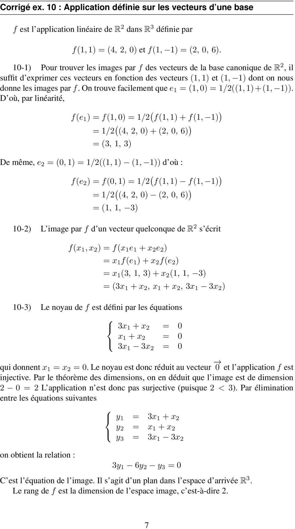 On trouve facilement que e = (, ) = /((, )+(, )).